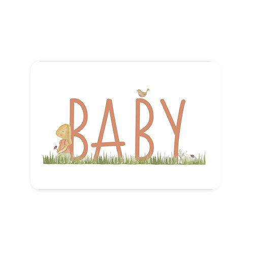 Ansichtkaart 'baby meisje'