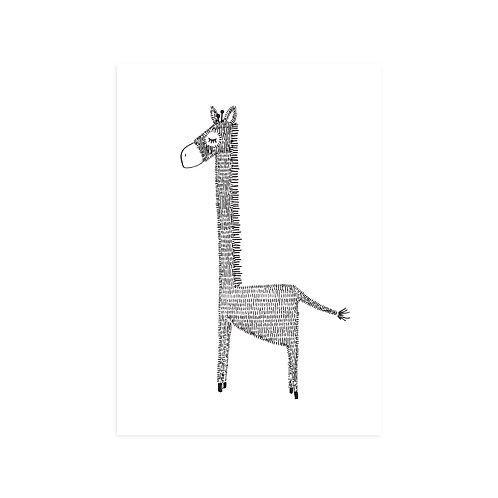 Ansichtkaart 'giraffe'