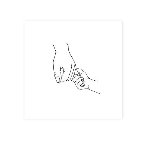 Wenskaart handen | incl. envelop | 4 stuks