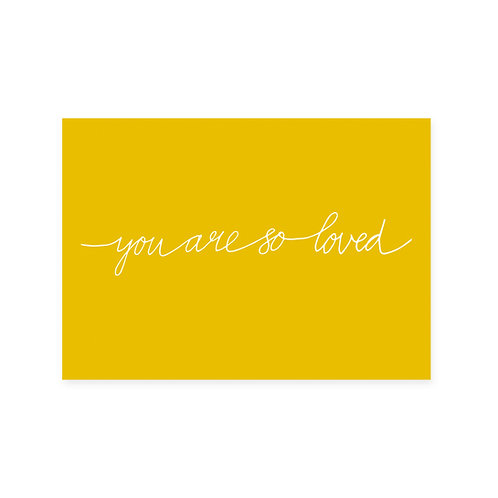 Ansichtkaart 'so loved'