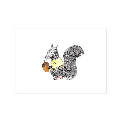Ansichtkaart 'eekhoorn'