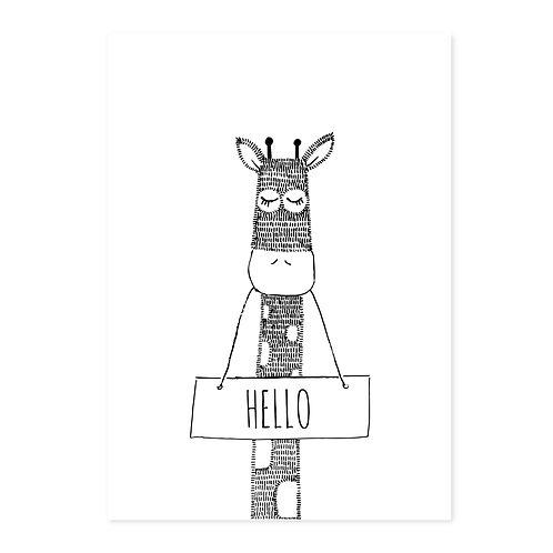 Giraffe 'hello'  | 2 stuks