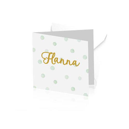 geboortekaartje Hanna