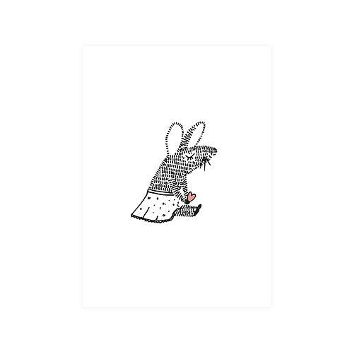 Ansichtkaart 'muis hart'