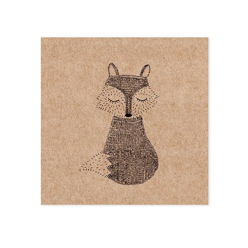Kraft fox | incl. envelop | 4 stuks