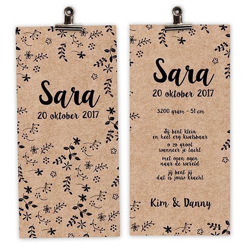 geboortekaartjes Sara