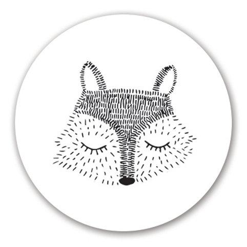 Sluitsticker vos | 48 stuks