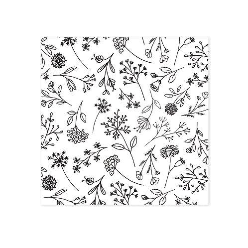Wenskaarten bloemenpaatroon | incl. envelop | 4 stuks