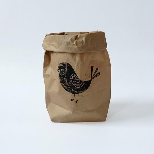 Paperbag bird | 4 stuks