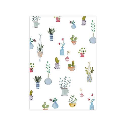 Ansichtkaart 'cactus-patroon'