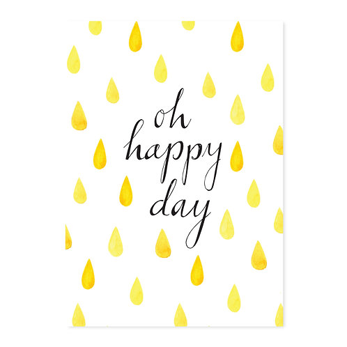 Poster 'oh happy day' A4