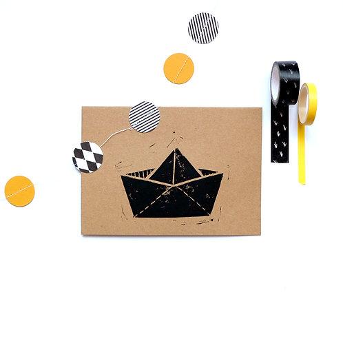 kaart boot | 4 stuks