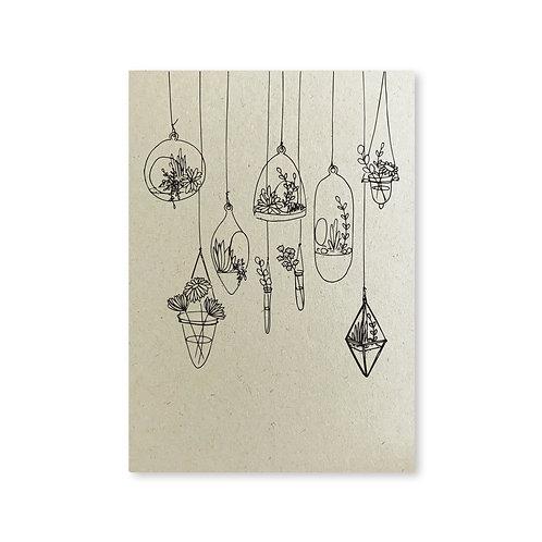 Poster 'de geheime tuin' - hang-glaasjes