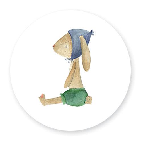Sluitsticker konijn jongen | 48 stuks