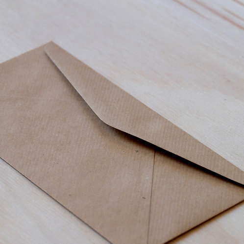 envelop kraftpapier 22*11cm