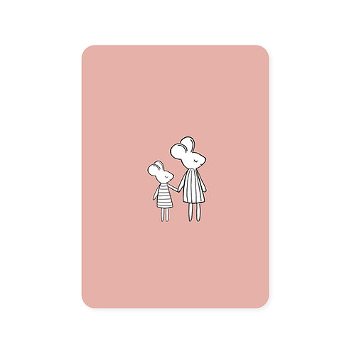 Ansichtkaart 'muisjes'