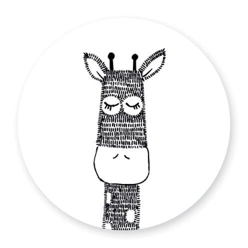 Sluitsticker giraffe 1 | 48 stuks