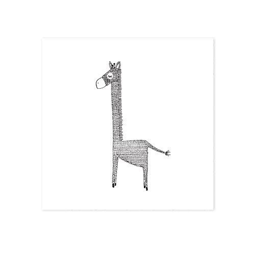 wenskaart 'giraffe'