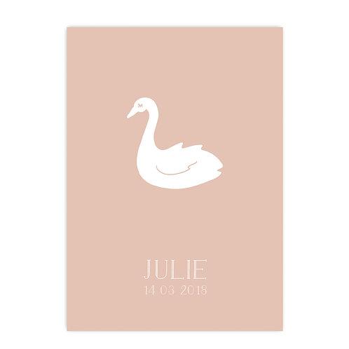 Geboorteposter Julie
