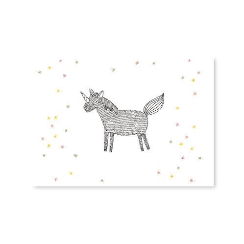 Ansichtkaart 'unicorn'