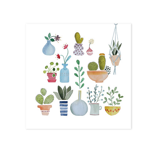 wenskaart 'planten'