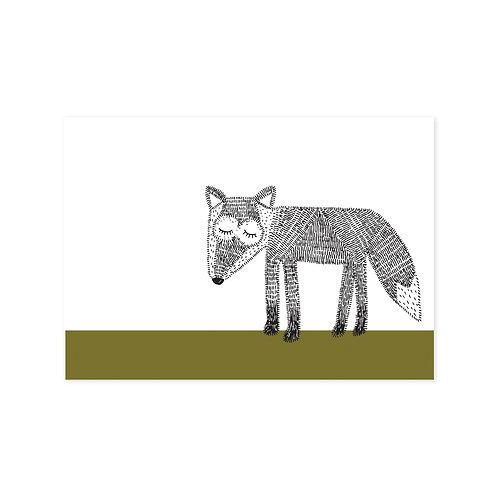 Ansichtkaart 'wolf'
