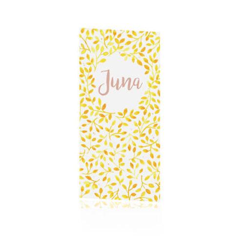 Geboortekaartje Juna geel