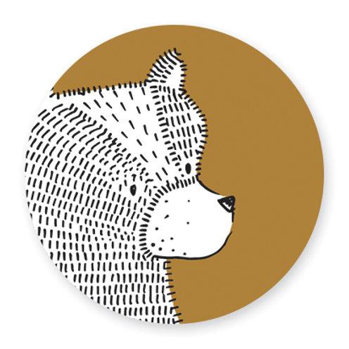 Sluitsticker beer-geel | 48 stuks