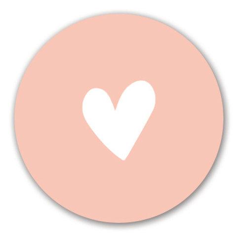 Sluitsticker hart-roze | 48 stuks