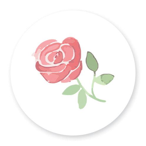 Sluitsticker roos | 48 stuks