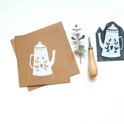 kaart thee-wit | 4 stuks