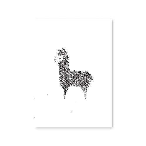 Lama - Alpaca | A6 | 4 stuks