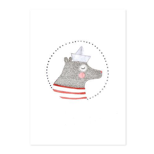 Poster sailer bear A4