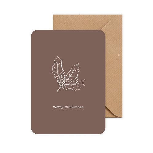 Kopie van Kerstkaartset 'vogel' incl. envelop