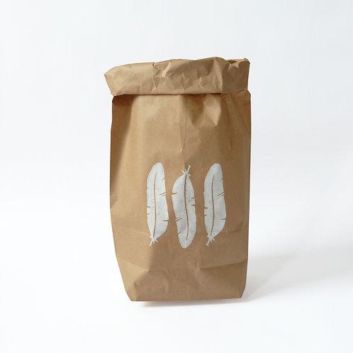 Paperbag feather | 4 stuks