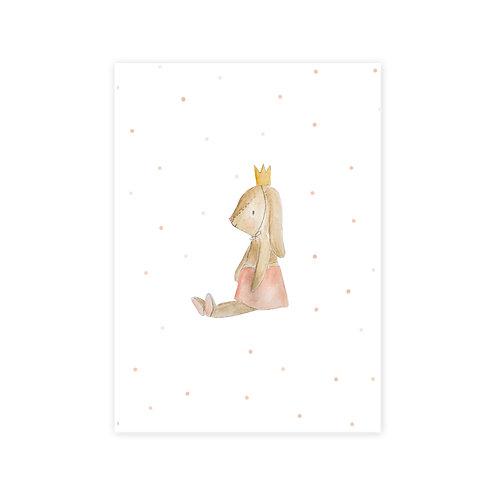 Ansichtkaart konijn tutu
