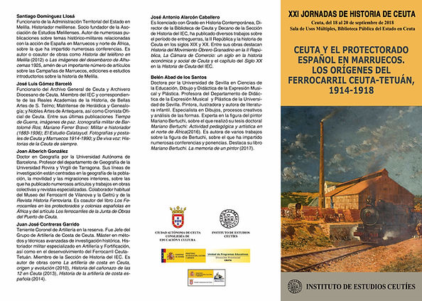 Programa XXI JORNADAS DE HISTORIA EN CEUTA