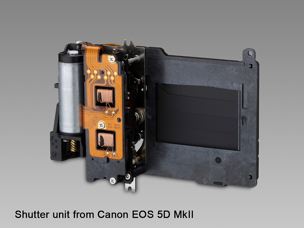 Shutter unit from Canon EOS 5D MkII