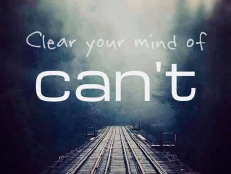 Is 'can't' running free in your life?