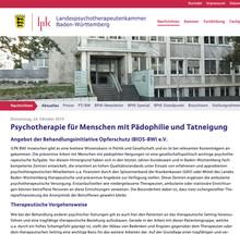 Landespsychotherapeutenkammer Baden-Württemberg empfiehlt....