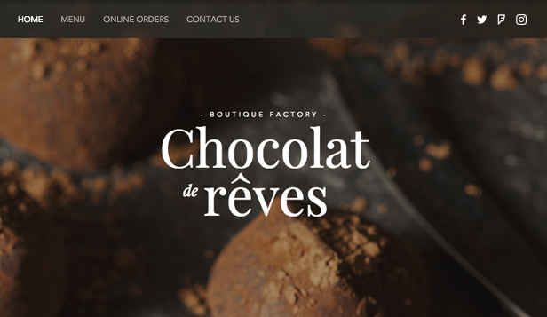 Catering e chef template – Cioccolateria