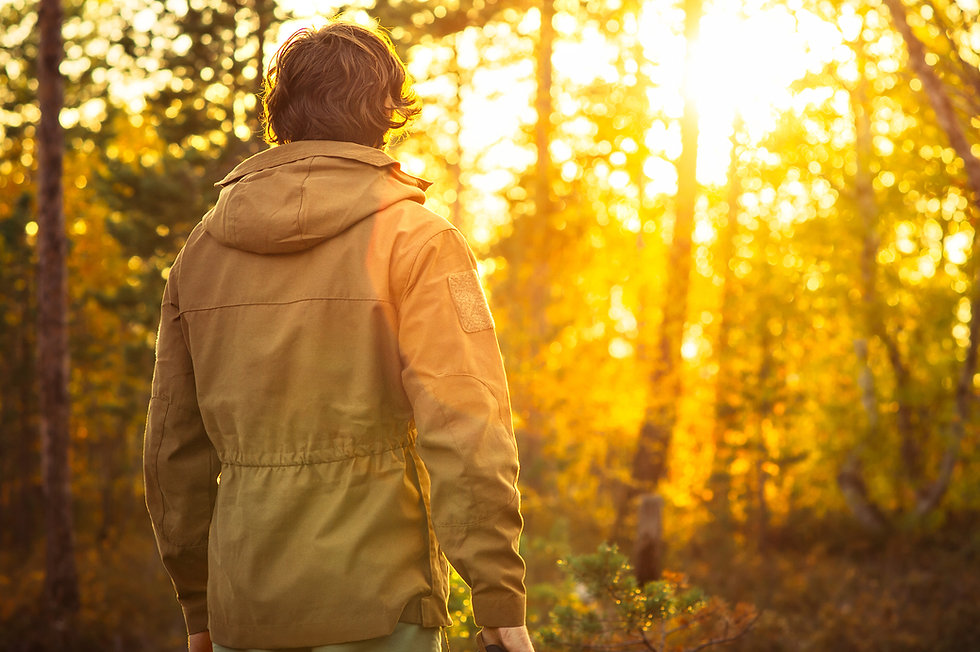 Walkabout Natur Coaching Mann bei Sonnenuntergang in der Natur