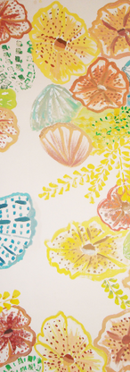 Anthropology Under the Sea - Original Hand Painted Print Design by Annarita Melin for Anthropology