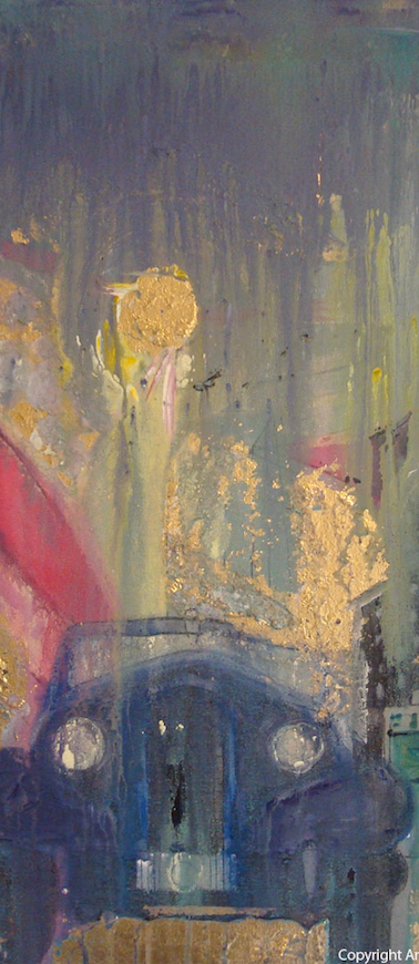 Blurred Time - Golden Light - Original Hand Painting By Annarita Melina
