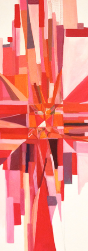 I C Red - Original Hand Painted Artwork by Annarita Melina
