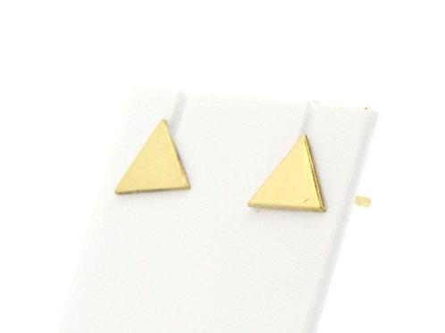 Boucles d'oreilles  triangle plein or jaune