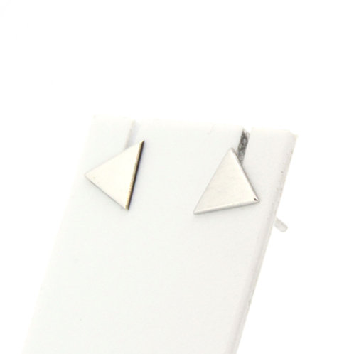 Boucles d'oreilles  triangle plein or blanc