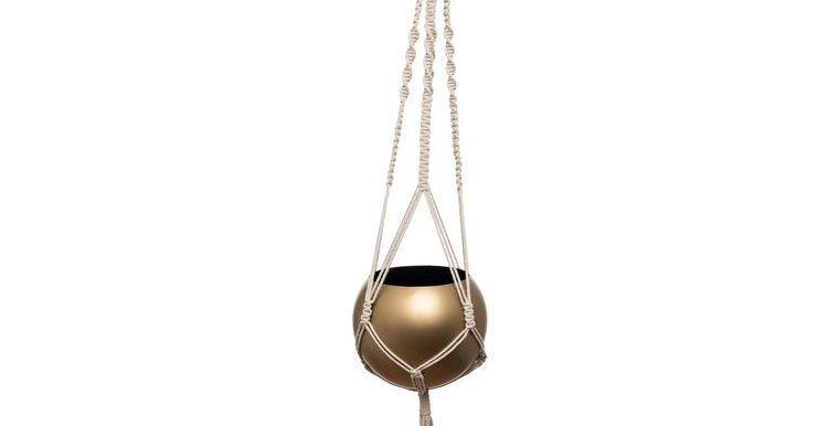 Round Metal Hanging Pot