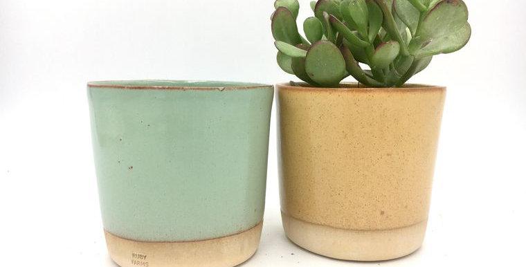Handmade Ceramic Shino Planter/Plant Pot