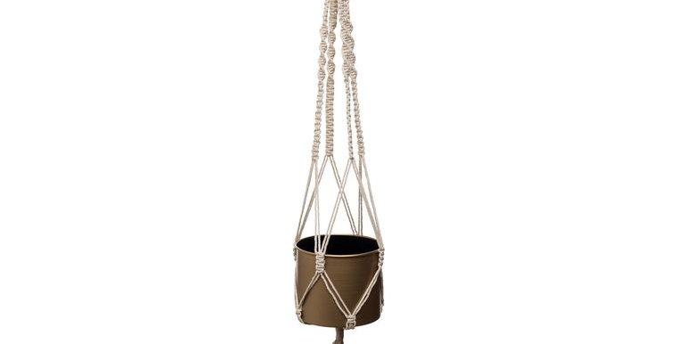 Cylinder Metal Hanging Pot Gold